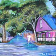 Street In St Augustine Art Print