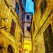 Street In Vernazza - Vintage Version Art Print