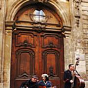 Street Jazz Paris France Art Print