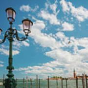 Street Lamp At Venice, Italy Art Print