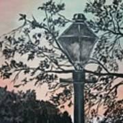 Street Lamp Historic Vintage Art Print Art Print