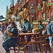 Street Life Of Peking, 1921 Art Print