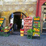 Street Market, Prague Art Print