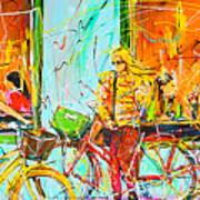 Street Of Amsterdam - Four Girls Art Print