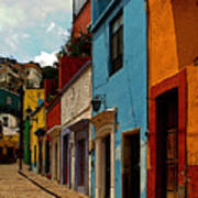 Street Of Color Guanajuato 3 Art Print