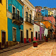 Street Of Color Guanajuato 4 Art Print