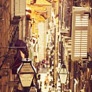 Street Of Dubrovnik Old Town Art Print