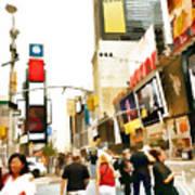 Street Of New York City Art Print