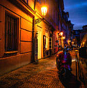 Street Of Prague Art Print