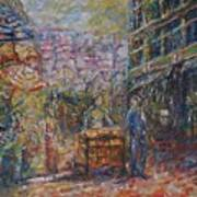 Street Peddler - Kl Chinatown Art Print