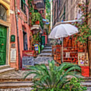 Street Scene Monterosso Italy Dsc02470 Art Print