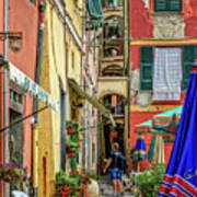 Street Scene Vernazza Italy Dsc02651 Art Print