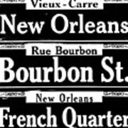 Street Sign Scenes Of New Orleans Art Print