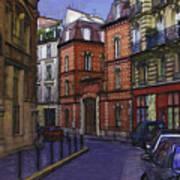 Street View Of Paris Art Print