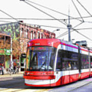 Streetcar On Spadina Avenue #17 Art Print