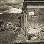 Streets Of Antigua - Guatemala Art Print