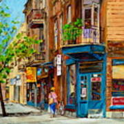 Streets Of Montreal Over 500 Prints Available By Montreal Cityscene Specialist Carole Spandau Art Print