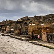 Streets Of Pompeii - 1a Art Print