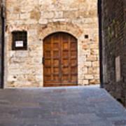 Streets Of San Gimignano Art Print
