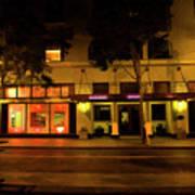 Streets Of San Jose, Ca Midnight Art Print