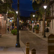 Streets Of St. Augustine At Night Art Print