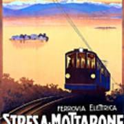 Stresa - Mottarone, Cable Car, Italy Art Print