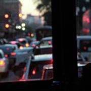 Stret Car Traffic Art Print