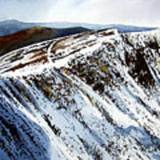 Striding Edge Leading To Helvellin Sumit  Art Print