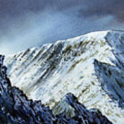 Striding Edge On Helvellin Art Print