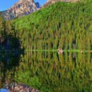 String Lake Morning Mirror Art Print