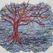 String Tree - Growing By A Thread Art Print