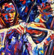 Strings Of Jazz Art Print