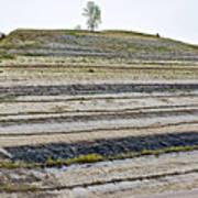 Striped Bank On Side Of A Road In Northwest North Dakota Art Print