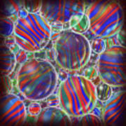 Striped Biggons Marbles Art Print
