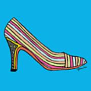 Striped Pump Shoe Art Print
