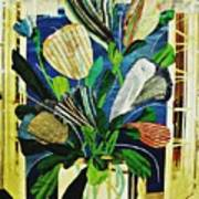 Striped Tulips At The Old Apartment Art Print