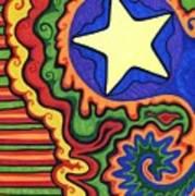 Stripes And Star Art Print