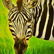 Stripes In Africa Art Print