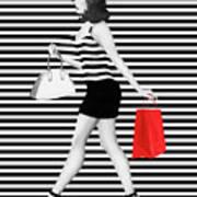 Stripes In Fashion Art Print