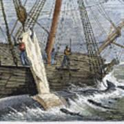 Stripping Whale Blubber Art Print by Granger