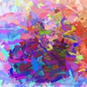 Strips Of Pretty Colors Abstract Art Print