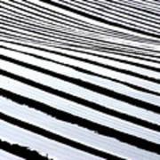 Stripy Land Art Print