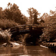 Stroll Garden Bridge Art Print