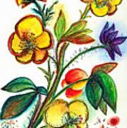 Strong Yellow Flowers Art Print
