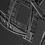 Structure - Center For Brain Health - Las Vegas - Black And White Art Print