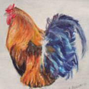 Strutting Rooster Art Print