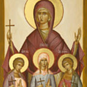Sts Sophia Faith Hope And Love Print by Julia Bridget Hayes
