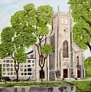 St.Thomas Anglican Church Belleville Circa1821 Art Print