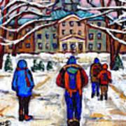 L'art De Mcgill University Tableaux A Vendre Montreal Art For Sale Petits Formats Mcgill Paintings  Art Print