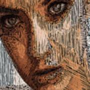 Studio Portrait In Pencil  Art Print